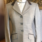 Grey Plaid with a Lavender Pin hunter coat