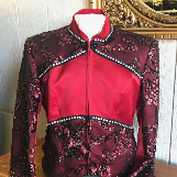 Red and Black Lace Western Jackets