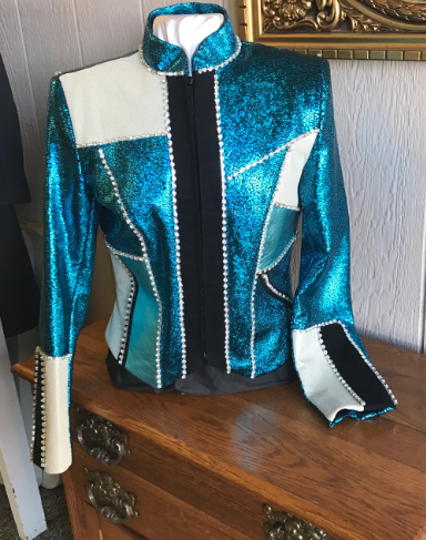 teal patch Western Jackets