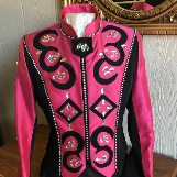 Pink and Black Western Jackets