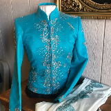 Teal Sparkle Western Jackets